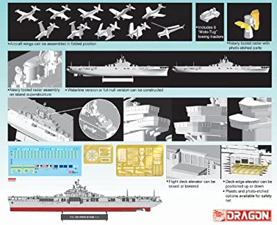 Dragon Models 1/700 U.S.S. Bon Homme Richard (CV-31) Essex-class Aircraft Carrier, Korean War