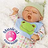Paradise Galleries Realistic Reborn Baby Boy Doll, Sleepy Frog, 20 inch Weighted Baby in GentleTouch Vinyl, 4-Piece Set