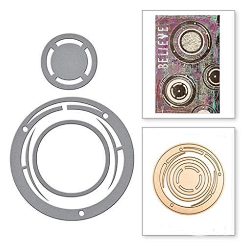 Yu2d  New Snowflake Metal Cutting Dies Stencils DIY Scrapbooking Album Paper Card (I)]()