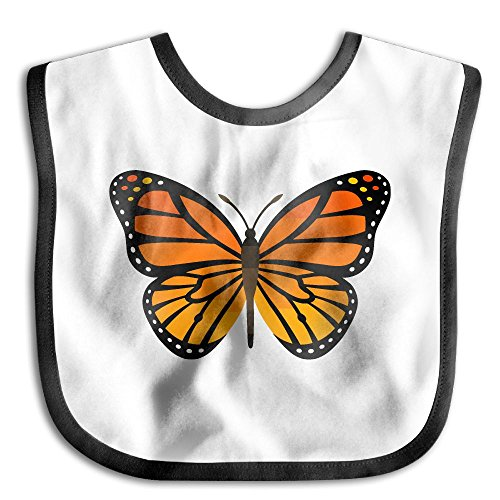 (Beautiful Monarch Butterfly Infant Toddler Bibs Adjustable Snaps Cute Design Baby Bib Funny Baby Shower - Gift)