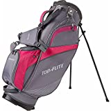 Top Flite Women's Lightweight Stand Bag (Grey/Berry)