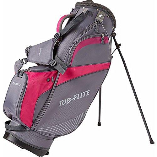 Top Flite Women's Lightweight Stand Bag (Grey/Berry)