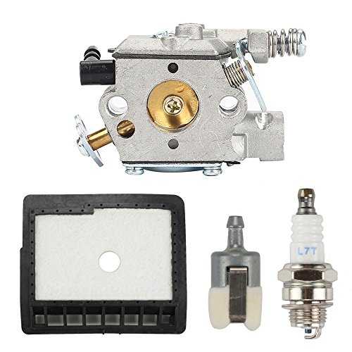 Hilom WT-589 WT-402 Carburetor with Air Filter Tune Up Kit for Echo CS300 CS301 CS305 CS306 CS340 CS341 CS345 CS346 CS3000 CS3400 Chainsaws A021000231 A021000232 A021000760