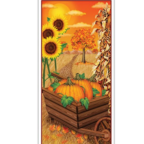 Classroom Door Halloween Decorations - Fall Door Cover Party Accessory (1