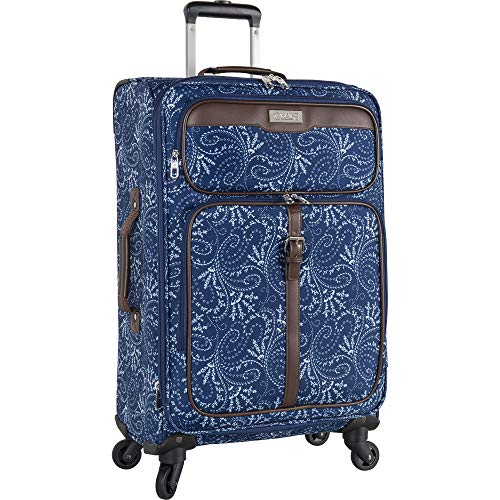 Chaps Expandable Carry On Spinner Luggage, Spring Paisley ()