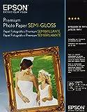 rival paper co - Epson Premium Photo Paper SEMI-GLOSS (8.5x11 Inches, 20 Sheets) (S041331)