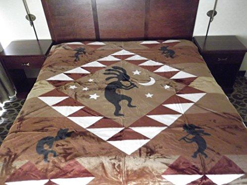 (Super Soft Korean Mink Style Blanket Kokopelli Indian Design ~ )