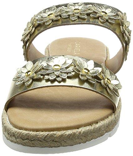Dorado 61 Klaim Mujer Abierta gold Con Np Sandalias Punta Carvela Aqwa040
