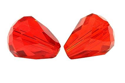 063e58b351e79 24pcs 10x8mm Adabele Austrian Teardrop Crystal Beads Light Siam Red  Compatible with 5500 Swarovski Crystals Preciosa SST-1006
