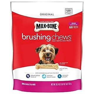 Milk-Bone Brushing Chews Daily Dental Dog Treats, Original, Mini Treats, 26.7 Ounces