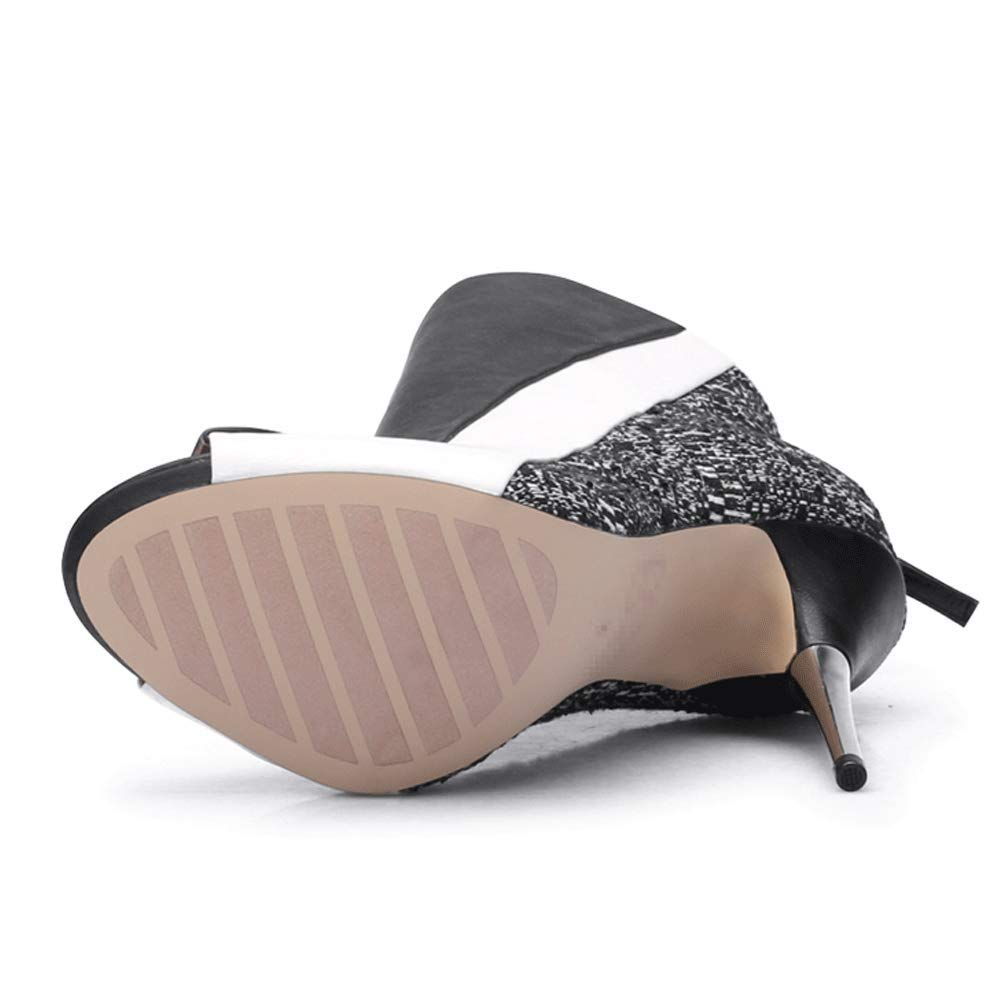 LIURUIJIA Womens Shoes Womens LIURUIJIA Stiletto Platform Booties DX-TM6215-1-04 B07GL1BGMH Boots 5e3dba
