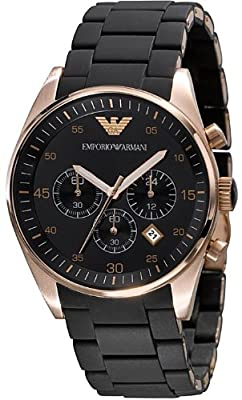 Armani Chronograph Bracelet Black Dial Men's Watch - AR5905 by Emporio Armani