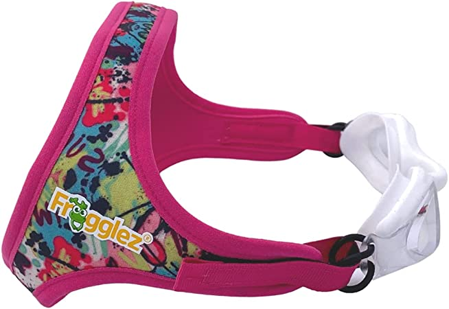 Frogglez Anti-Fog Swimming Goggles for Kids Under 10 (Ages 3-10) Recommended by Olympic Swimmers; Premium Pain-Free Strap