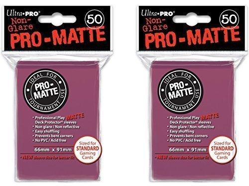 100 Ultra Pro Blackberry PRO-MATTE Deck Protectors Sleeves Standard MTG Pokemon (100 Standard Card)