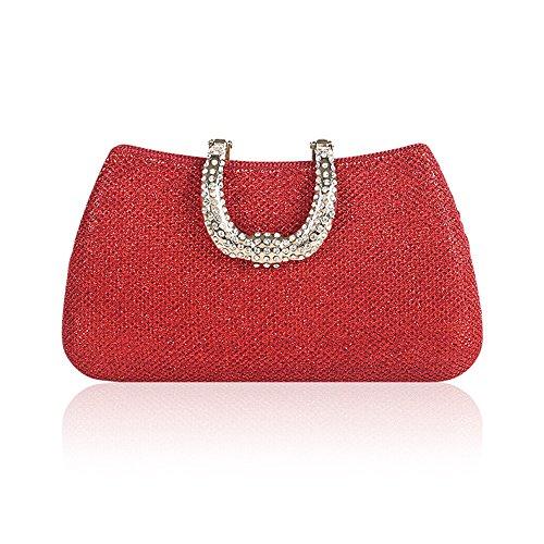 de Mariage Demoiselle Sac rabbit Sparkling Rose Sac d'embrayage Red Banquet d'honneur Sac Color Red cosmétique Nuptiale Lovely n8q0Rw4E4