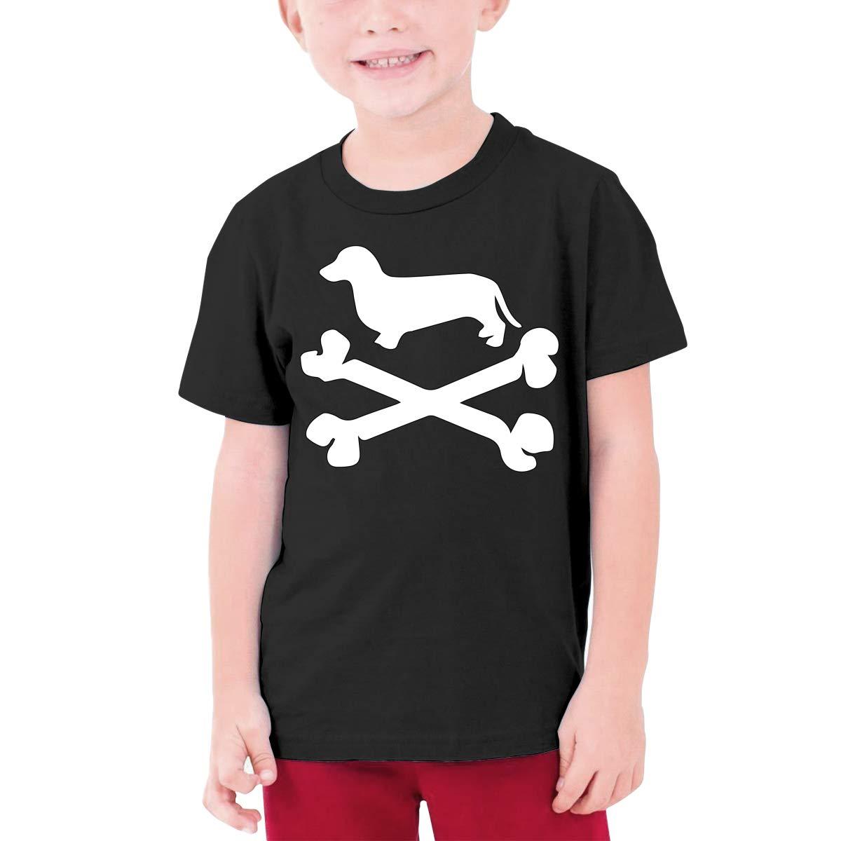 DH4/_8J Daschund Puppy Adolescent Boys Short-Sleeved Tshirt