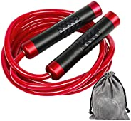 Gaoykai Weighted Jump Rope for Women,Men,Heavy Jump Rope with Adjustable Bold PVC Rope,Ball Bearing Aluminum A