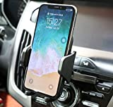 FMU CD Slot Phone Mount, Car Phone Mount CD Slot Best Car Phone Holder with Adjustable Clip Compatible iPhone XR/XS Max/XS/X/8/8P, Galaxy S10/S9/S8 Plus OnePlus Pixel LG and More