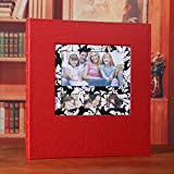 Interchangeable plastic 6 inch leather cover album album album / family growth baby large capacity album ( Color : Red 1 )