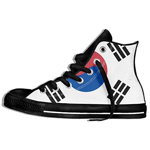 MOALD7 New Fashion Classic Flag Of South Korea Printed High-top Canvas Shoes Sneaker Unisex