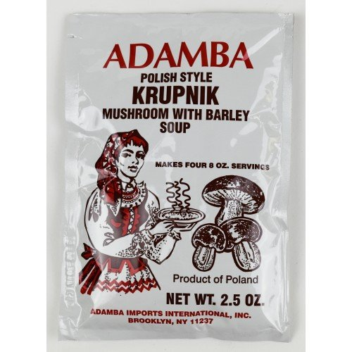 Adamba Polish Style Krupnik Mushroom with Barley Soup Mix 3-Pack (Best Mushroom Barley Soup)