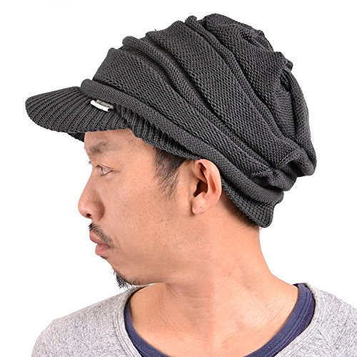 (Casualbox mens Peak Cap Beanie Knit Hat Summer Warm Slouch Baggy Unisex)