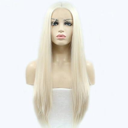 Look naturale donne parrucche capelli lunghi bianco biondo capelli  sintetici per Drag Queen 60   biondo cdf35cef8ddf