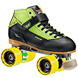 Stomp Factor-1 Derby Skates color green size 6