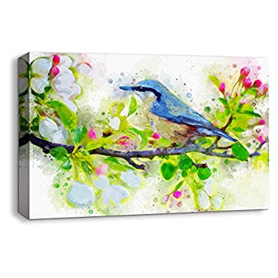 Canvas Wall Art Beautiful Abstract Ink Painting Artwork for Home Prints Framed - 12x18 inches