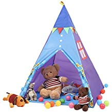 SpringBuds Kid's Teepee Play Tent, Indian Playhouse,Indoor Outdoor Children Play Tent, Perfect Gift for Kids, Free Carry Case Include