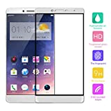Cuitan Full Coverage Tempered Glass Screen Protector for OPPO R7 Plus, Ultra-thin 0.3mm thickness, 9H Hardness, 2.5D, Clear Transparent Anti-scratch Fingerprint Resistant Tempered Glass Screen Protector Protective Film for OPPO R7 Plus - White