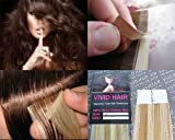 10 Pcs X 18″ inches Remy Seamless Tape In Skin weft Human Hair Extensions Color 8C/11C Blonde Mix Review