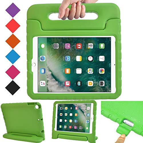 BMOUO Case for New iPad 9.7 Inch 2018/2017 - ShockProof Case Light Weight Kids Case Cover Handle Stand Case for iPad 9.7 Inch 2017/2018 New Model - Green