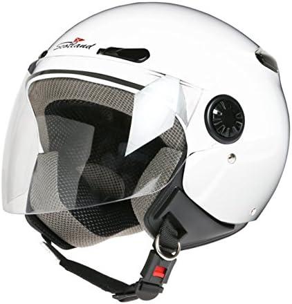 Scotland Casco Moto con Visiera Taglia 57-58 L Bianco