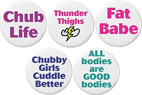 (Set 5 Body Posi Positive Beautiful Chub Fat Baby Good Bodies 2.25
