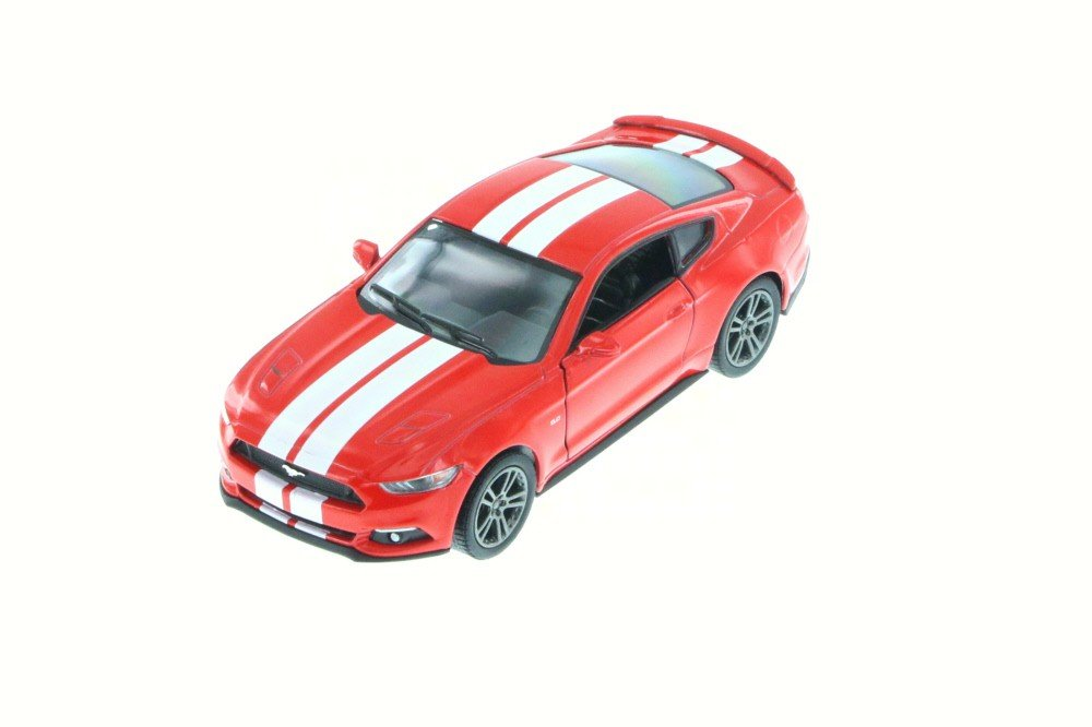 New 1 38 KINSMART DISPLAY RED COLOR 2015 FORD MUSTANG GT WITH STRIPES Diecast Model Car By KINSMART