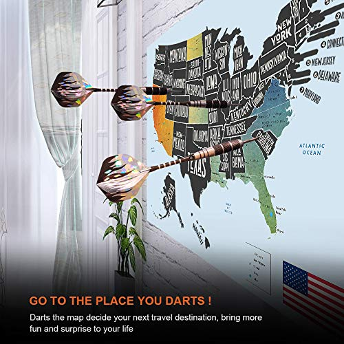 """Scratch Off Map of The United States, Merssyria Scratch USA Travel Map Wall Poster with Scratching Tools, Flag Pins, Stickers, Deluxe Gift for Traveler 24"""" x 17"""" by Merssyria (Image #5)"""