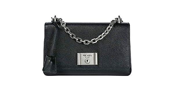 d1244a4e8af2 Amazon.com: Prada Women's Saffiano Lux Shoulder Bag Black: Clothing