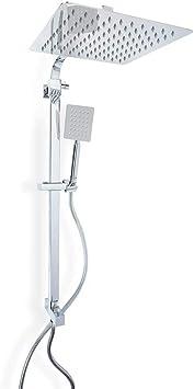 Metaform Zeus - Columna de ducha con alcachofa cuadrada de 25 cm y ...
