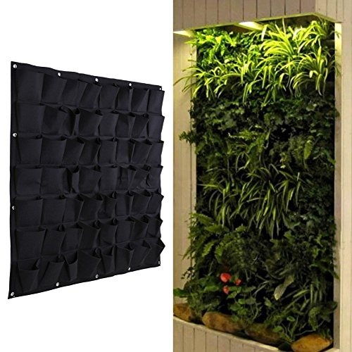 Recycled Stair Tread (VIPASNAM-56 Pocket Garden Vertical Planter Wall Mount Living Growing Bag Felt In/Outdoor)