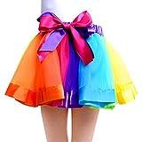 7 year old clothes - UOMNY Girls Layered Rainbow Ribbon Tutu Skirt Dance Dress Tutus for Girls 6-7Years Old