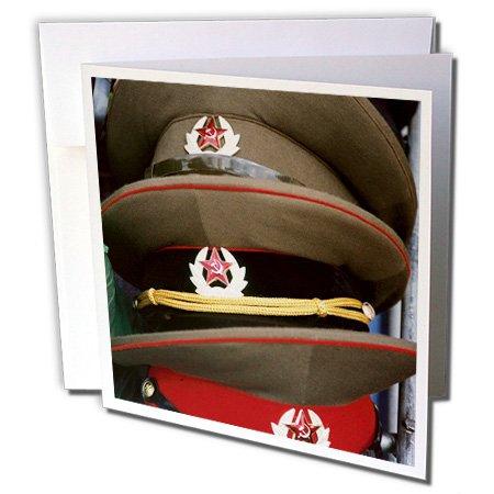 Danita Delimont - Poland - Military hats, Anniversary Stadium, WARSAW. Poland - EU22 PRI0021 - Prisma - 12 Greeting Cards with envelopes (gc_82464_2)