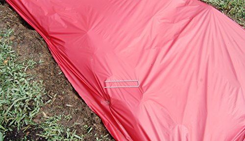 Red Mulch - Garden - Plastic Film - 4ft. X 4000ft. 1.0 Mil Embossed By Grower's Solution