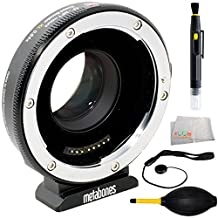 Metabones T Speed Booster XL 0.64x Adapter for Full-Frame Canon EF-Mount Lens to Select Micro Four Thirds-Mount Cameras MB_SPEF-M43-BT3 4PC Accessory Kit Includes Lens Pen + Dust Blower + Cap Keeper + Microfiber Cleaning Cloth