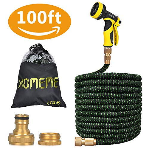 Garden Hose, Homeme 100 Feet Newest Expandable Strongest Magic Hose Pipe with...
