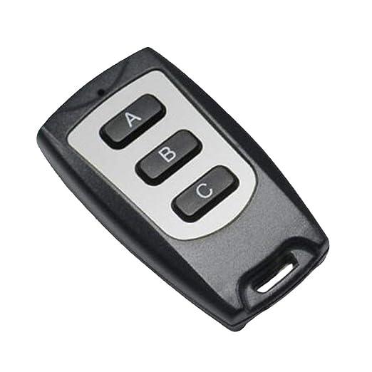 Mando a distancia 1-4 afina el regulador 433MHz inal/ámbrico ultra delgado impermeable a distancia RF control autom/ático duplicador de puertas de garaje negro y plata