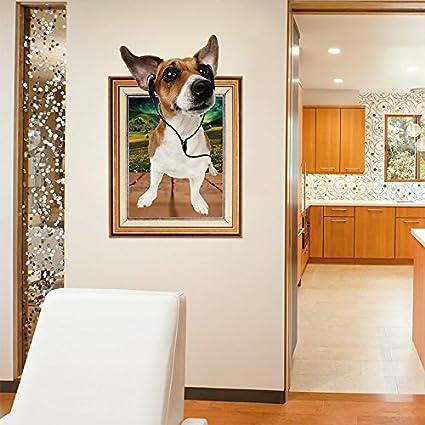 GOUZI El muro creativo niño cama pared tiendas de mascotas lindo perro, perro de dibujos
