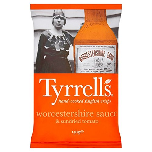 Tyrrells Worcestershire Sauce And Sundried Tomato Flavour Crisps 150g (Flavor Crisps)