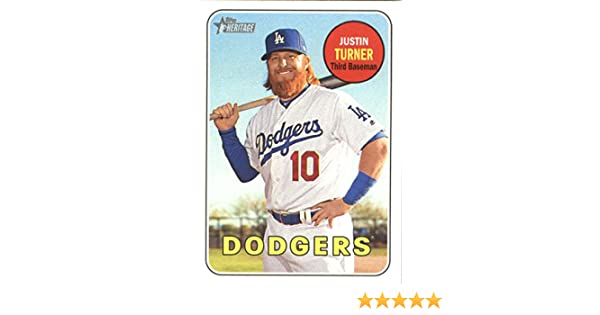 Amazon.com: 2018 Topps Heritage #312 Justin Turner Los Angeles Dodgers Baseball Card: Collectibles & Fine Art
