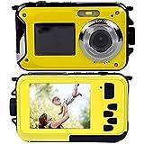 DeXop Gapo PL-03ダブルスクリーン防水デジタルカメラ2.7インチフロントLCD簡単なセルフショットカメラ